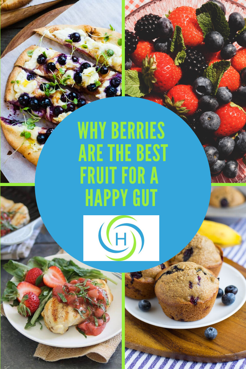 why berries are the best fruit for a happy gut