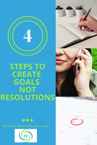 4 steps to create goals not New Years Resolutions