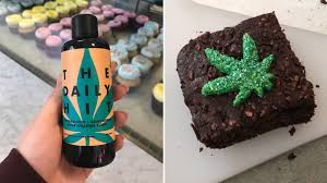 CBD oil brownie and the brand The Daily Hit CBD oil