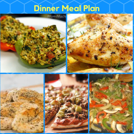 Meal Planning Sunday: Dinners for the week