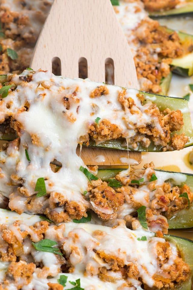 stuffed zucchini boats recipe