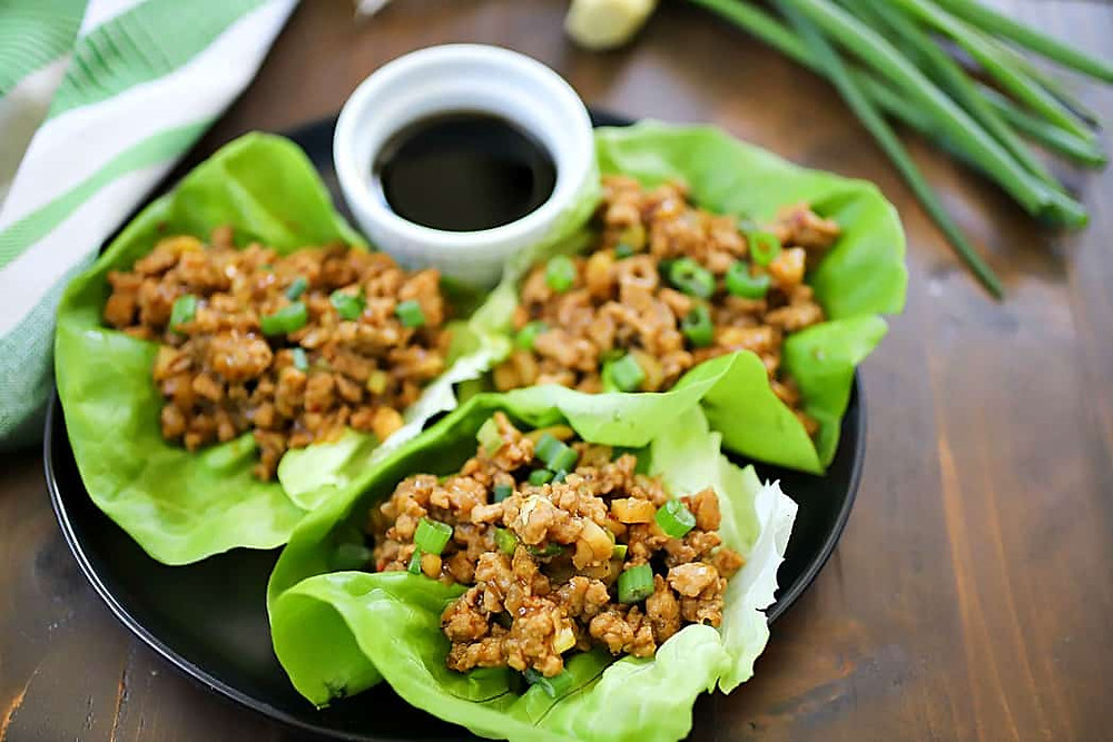 chicken lettuce wraps recipe for dinner or snack