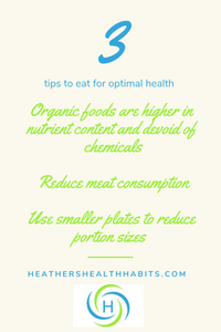 3 tips to eat for optimal health
