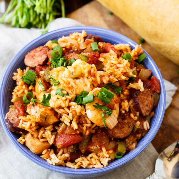 slow cooker jambalaya can be made without meat and fish for a hearty vegetable based meal