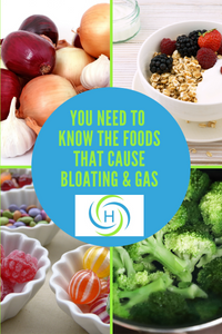 Foods that cause bloating and gas include onions, dairy, hard candy and broccoli