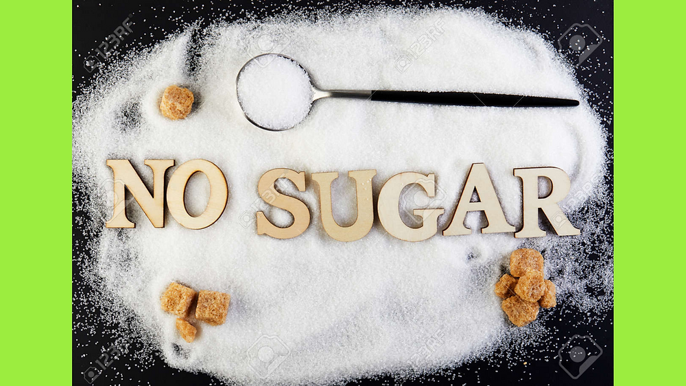 no sugar spelled out in letters