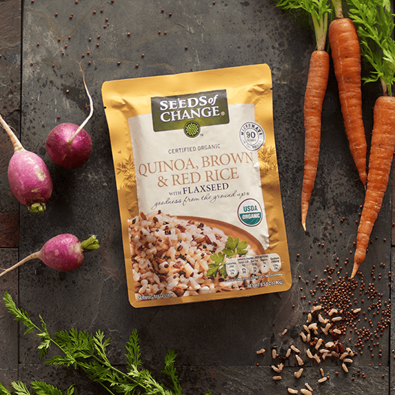 seeds of change sells healthy grains that are precooked making dinnertime simple