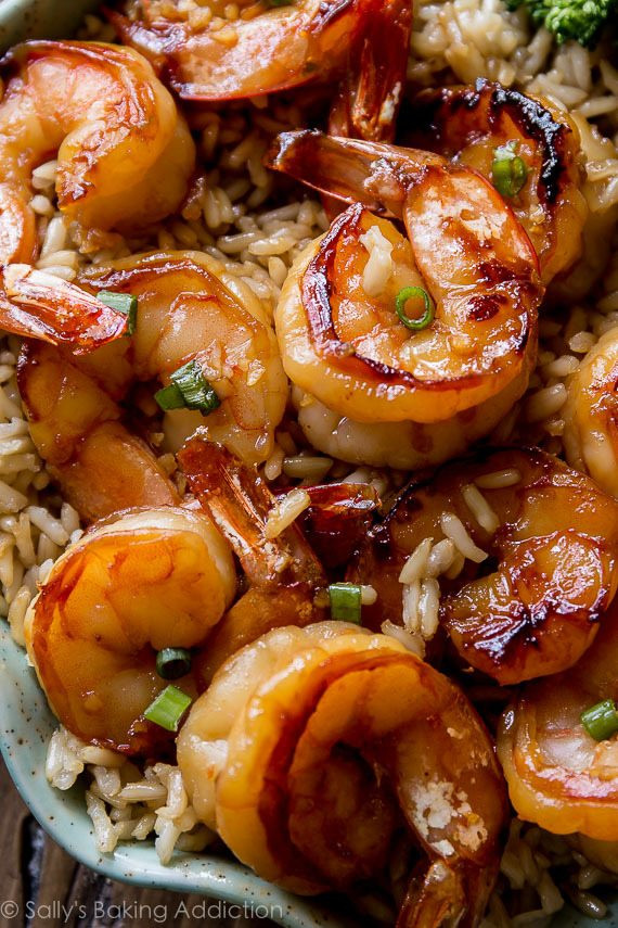 a fast and healthy dinner ready in 20 minutes is this honey garlic shrimp recipe
