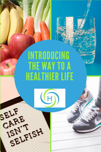 the way to a healthier life includes eating vegetables, drinking water, moving your body and practicing self care