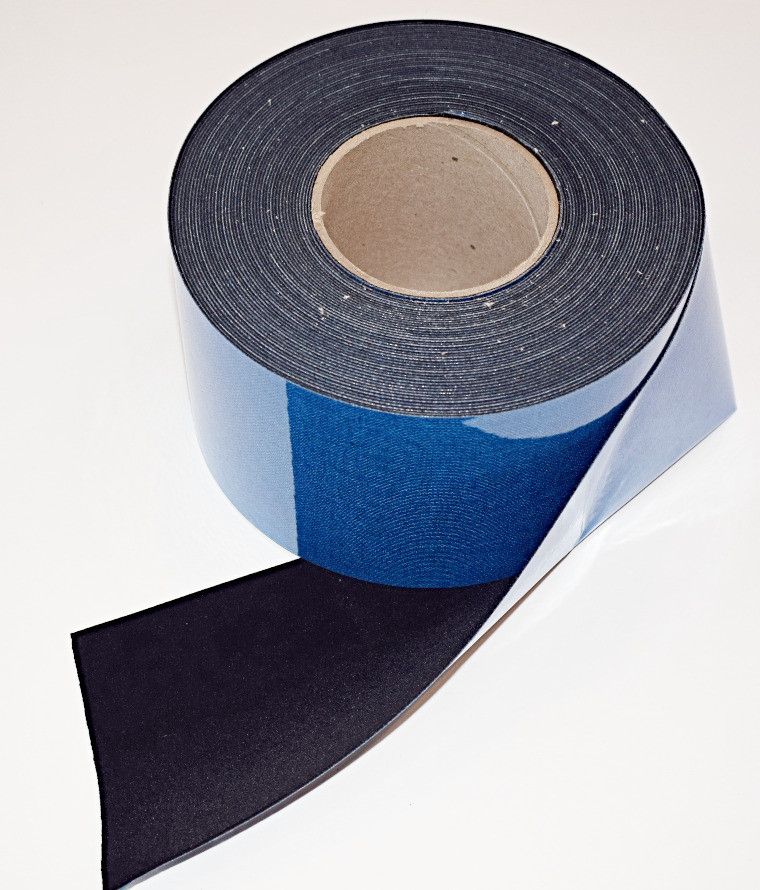 """4"""" x 60 ft Roll - Contrast Boosting Black Border Tape for Projector Screens - Flocked Velvet Fabric Frame Material - Premium Flock w/ Adhesive Backing - DIY"""