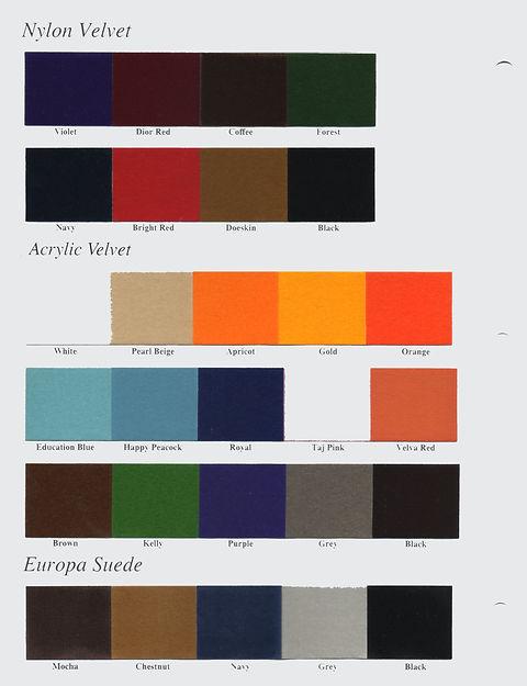 Suede Color Card