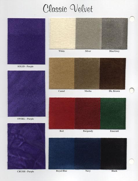 Classic Velvet Color Card