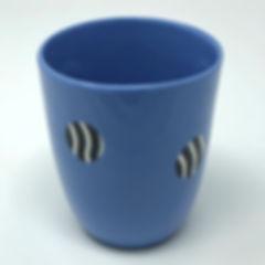 blue with black / white zebra pattern