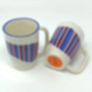 orange / blue pinstripes