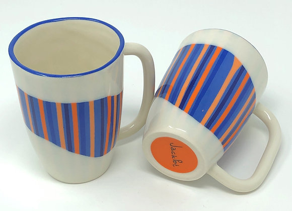 12 oz mugs - pinstripe series