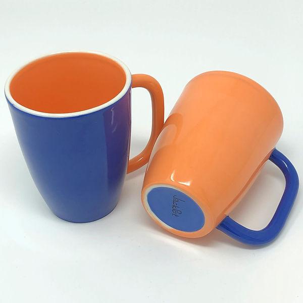 orange / blue solid
