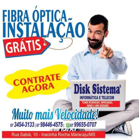 Disk Sistema lança promoção de instalação gratuita da internet de fibra óptica