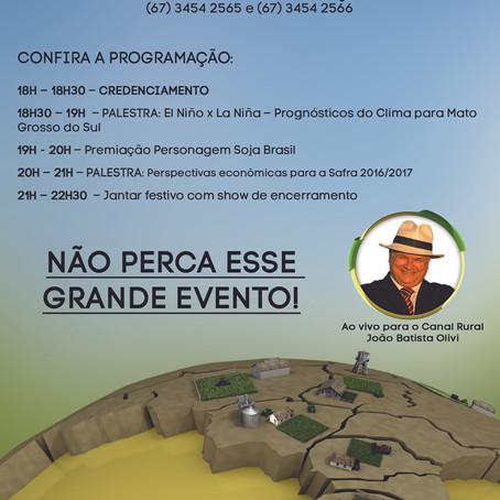 Maracaju recebe Fórum de Encerramento Soja Brasil – Safra 2015/2016