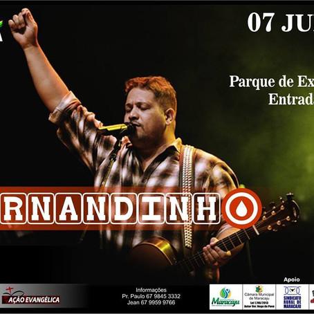 EXPOMARA 2016 terá Show Gospel com Fernandinho
