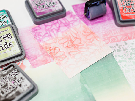 Geli printing with distress oxide inks