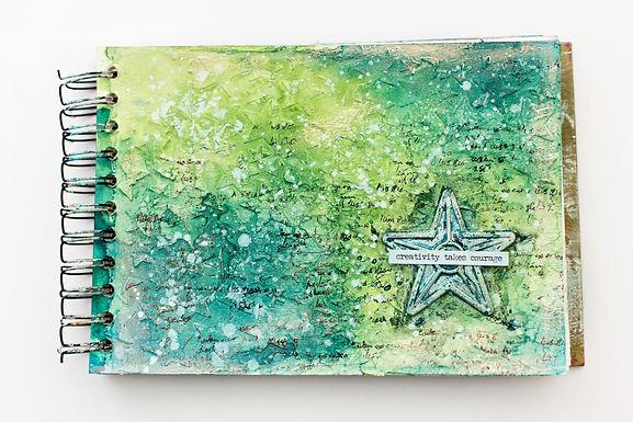 Creativity take courage | Art journal page
