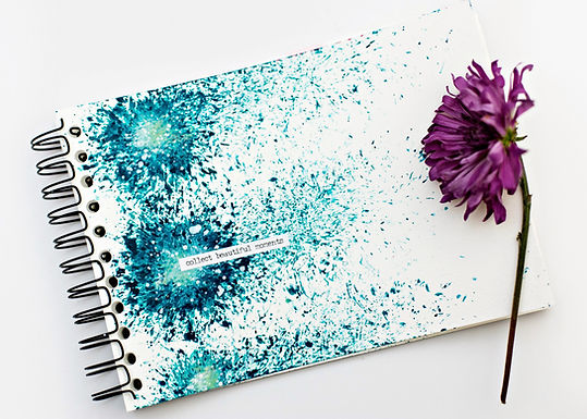 Paint smooshing with flowers