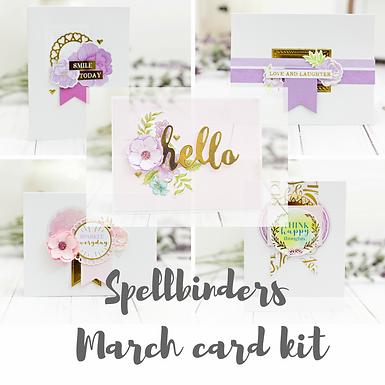 Spellbinders March card kit