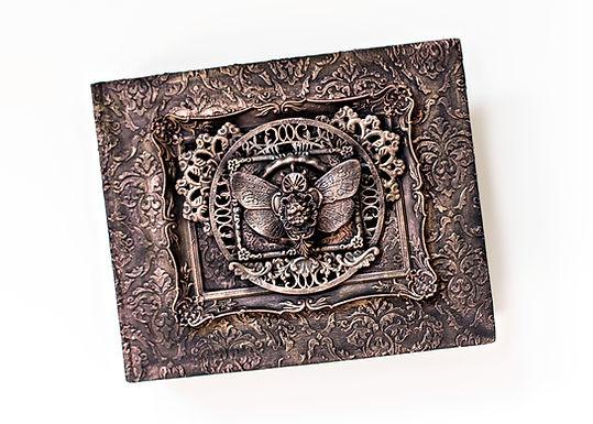 Black Gesso and Art Alchemy wax