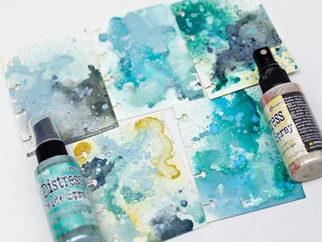 Distress spray color combinations