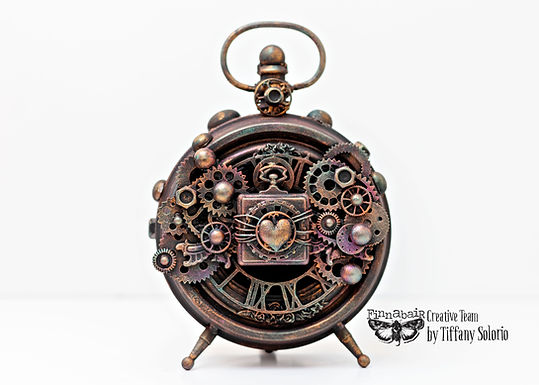 Altered steampunk clock
