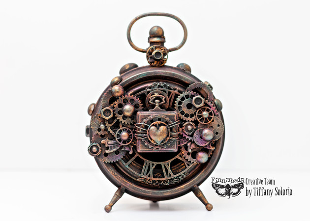 Altered steampunk clock