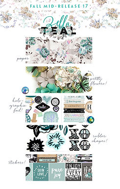 Prima Zella teal collection