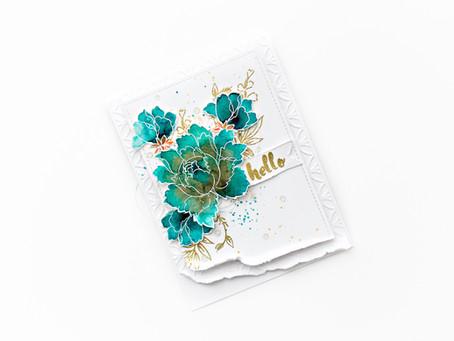 Hello card - World cardmaking day