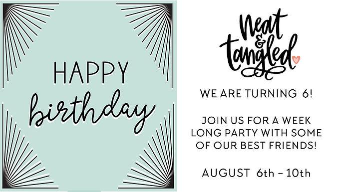 Neat and Tangled 6th Birthday Celebration blog hop!