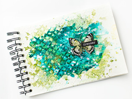 Quick and easy art journal process