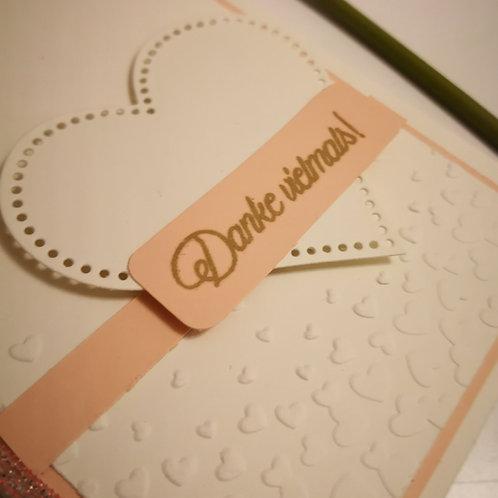 """5 Danksagungskarten """"Apricot Heart"""""""