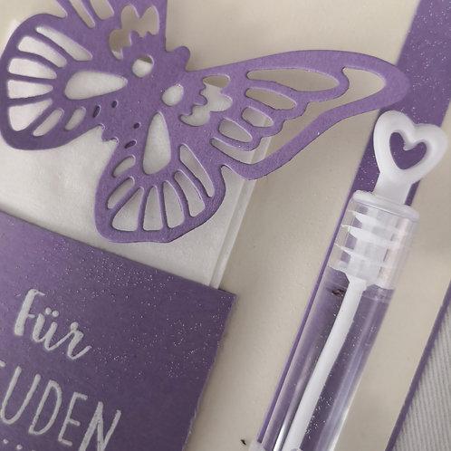 """5 Freudentränen und Weddingbubbles """"Schmetterlingsliebe flieder"""""""