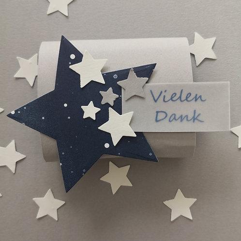 """5 Gastgeschenke Dankeschön """"Sternenhimmel blau"""""""