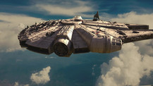 Millenium Falcon Fly-by