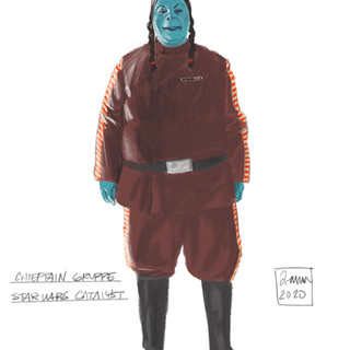 Character Sketch of Chieftain Gruppe, from Catalyst