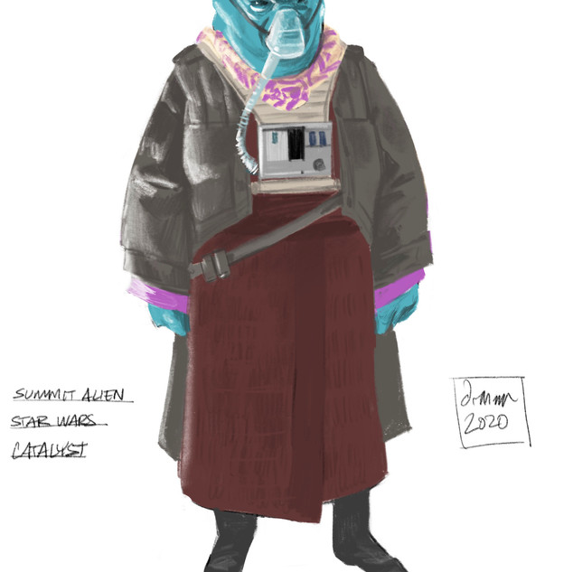 Character Sketch of a Miscellaneous Summit Alien
