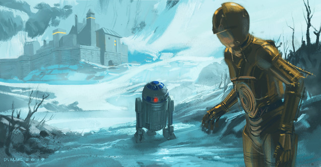 R2-D2 and C-3PO on Vallt