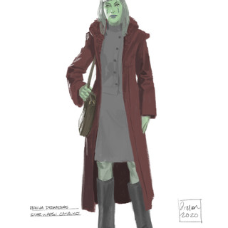 Character Sketch of Reeva Desmesne, from Catalyst