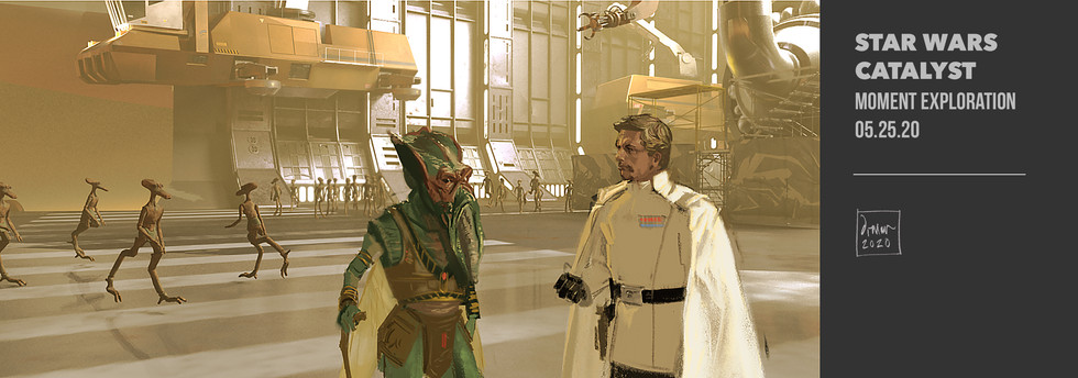 Poggle and Director Krennic