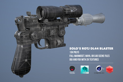 Solo's DL-44 Blaster