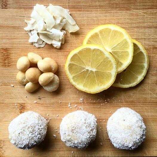 Lemon Coconut Cashew/Maca Balls