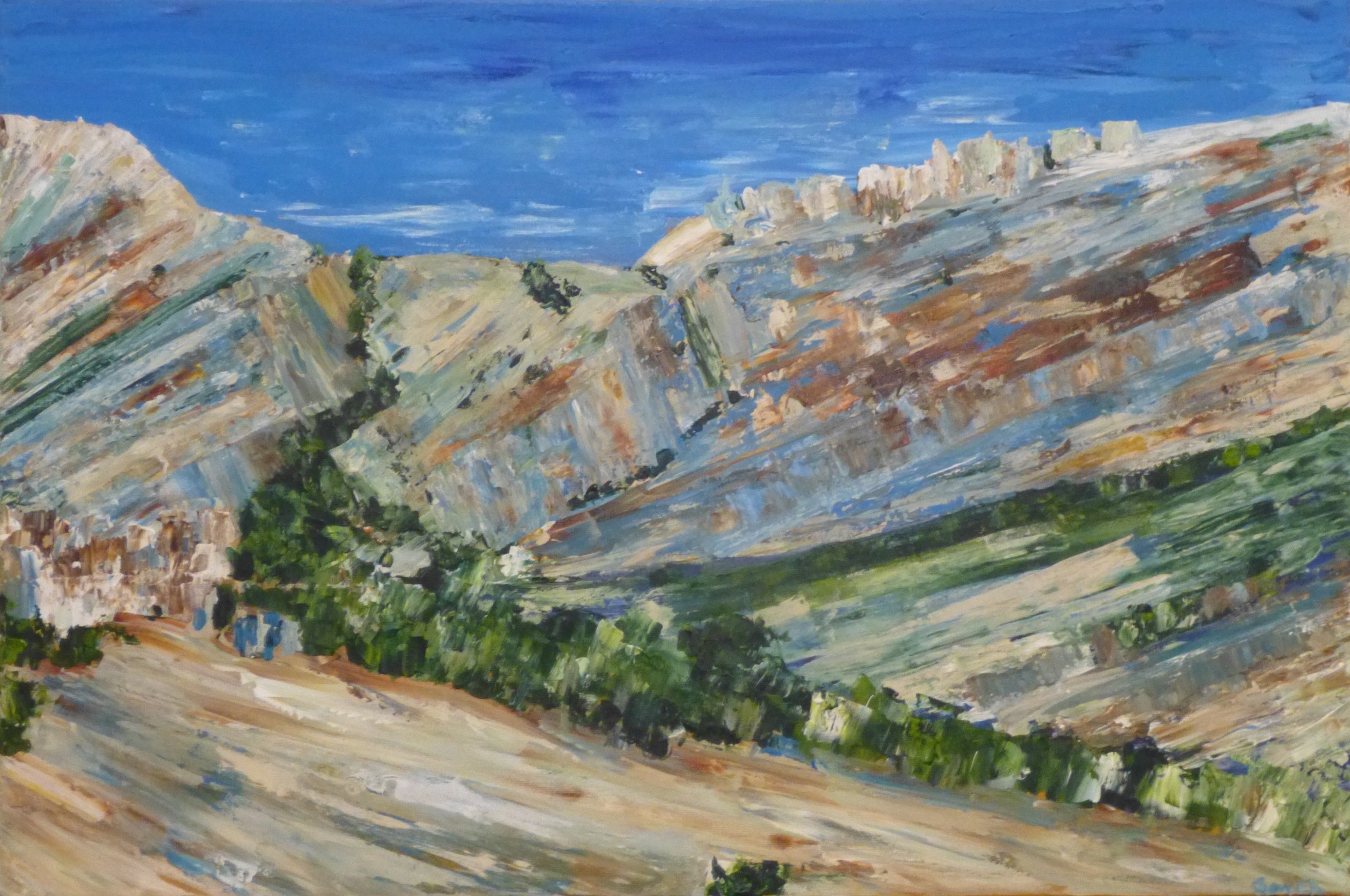 Claire Sower Les Baux de Provence  Cliffs [High Res website 2]