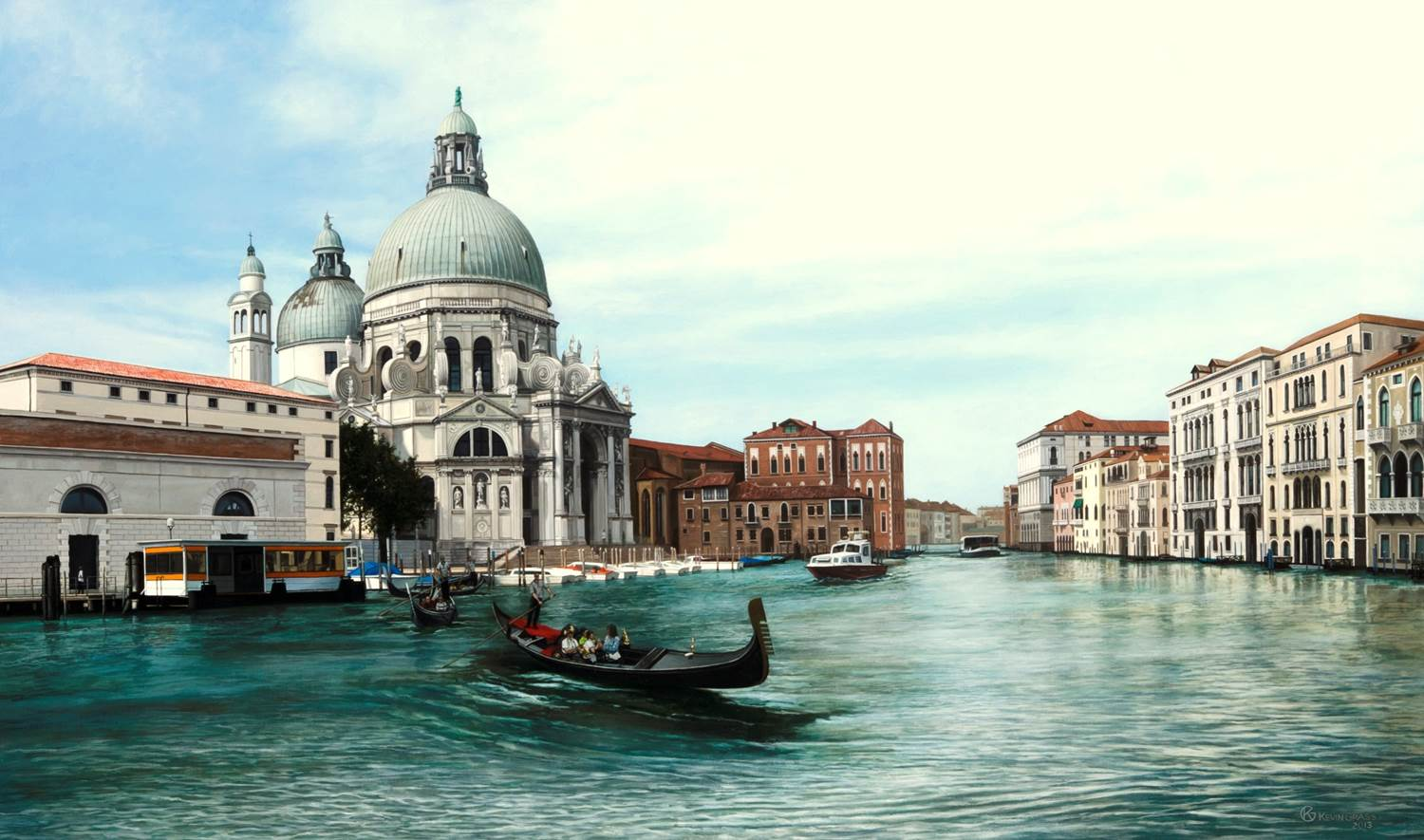 View of the Santa Maria della Salute Venice