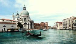 View of the Santa Maria della Salute Venice