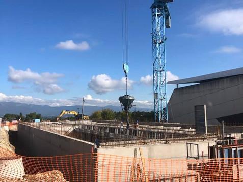 CHANTIER : Les entreprises s'activent pour la construction de l'Hôtel AC MARRIOTT à Saint Ju